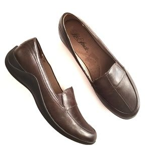 LifeStride Brown slip on loafers 8W